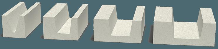 Основные размеры газобетонных блоков