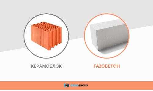 Разница между газоблоком и керамоблоком