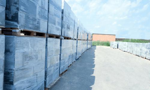 Хранение и транспортировка газобетонных блоков