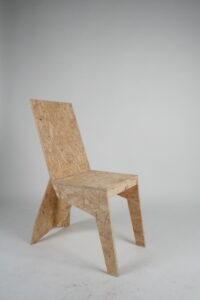 стул из остатков осб плиты