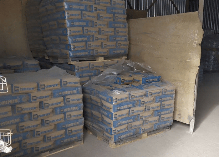 Хранение цемента